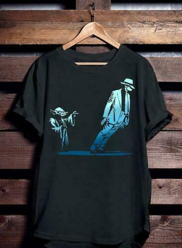 Yoda y Michael Jackson la verdad sobre Mj Negro algodón camiseta de los hombres S 4XL