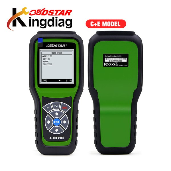OBDStar X100 PROS Auto Key Programmer C +E Type IMMOBILISER + OBD software with EEPROM Adapter Update online X100 PRO