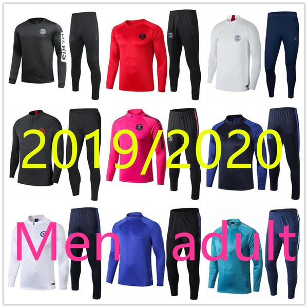 best selling top 19 20 soccer tracksuit jerseys training suit 2019 2020 adult survetement de foot chandal futbol tracksuit jogging survêtement football