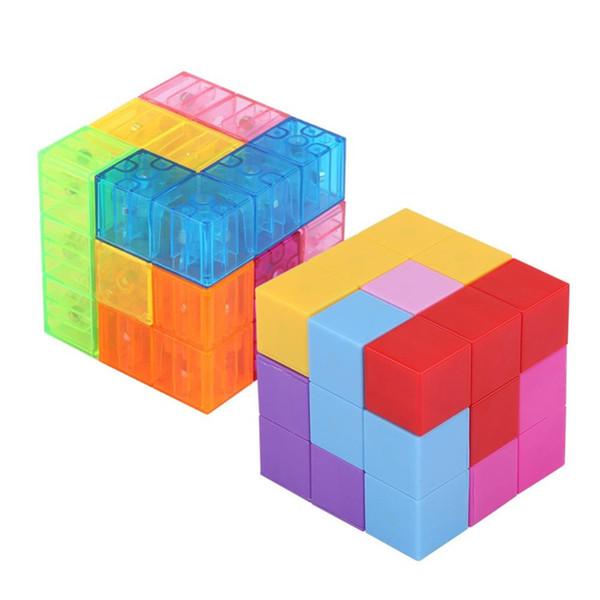 3x3x3 Magnétique ABS Cube Puzzle Twist Blocs de Construction Soulagement du Stress avec 54 cartes guides Enfants Drôle Assemblé Jeu Jouet pour Enfant L