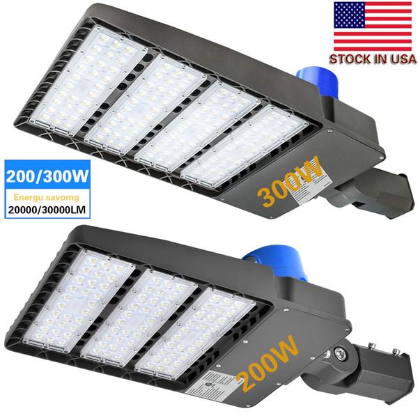 5PCS -100W 200W 300W LED Parkplatz beleuchtet Straßenlaterne-5700K LED Shoebox-Pfosten-Lichter, wasserdichte super helle LED Parkplatzbeleuchtung