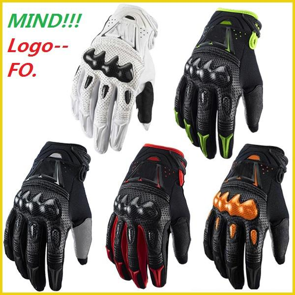 F-5-Colors-Lether Gloves Moto Guanti in pelle Bike Cycling Glove Moto Guanti Uomo Spart Protect