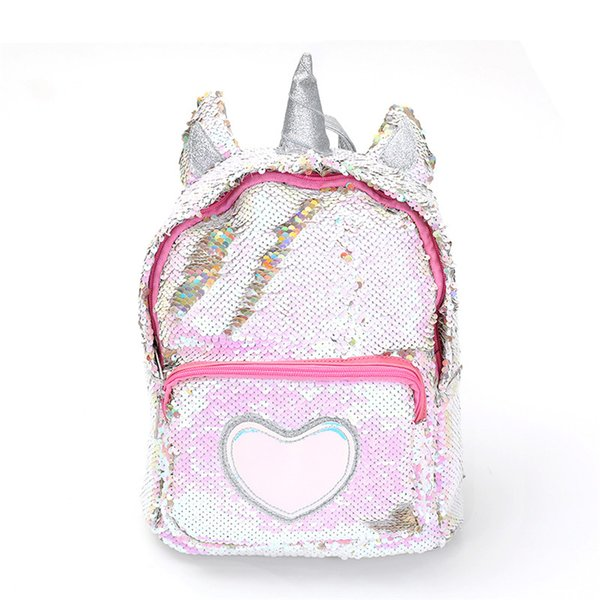 Hot Sale Girl Unicorn Backpack For School Sequins Leather Female Women Teenager Shoulder Bags Mochilas Mujer Drop Shipping