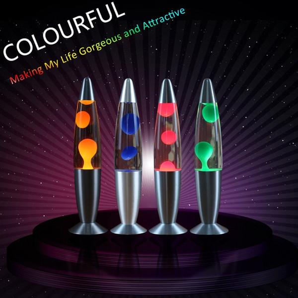 Salon Yatak odası Ev Dekorasyonu için LED Masa Masa Abajur Volkanik Lav Wax Atmosfer Gece Işığı