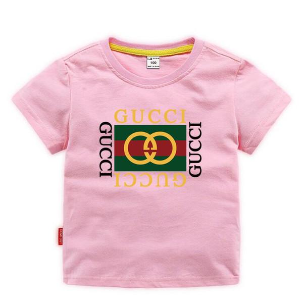 Çocuklar Giysi Tasarımcısı Kız Erkek Bebek Moda Baskı Pamuklu Giysi Tasarımcısı Erkek Tasarımcı T-Shirt Nefes Moda Marka Lüks 2E-26