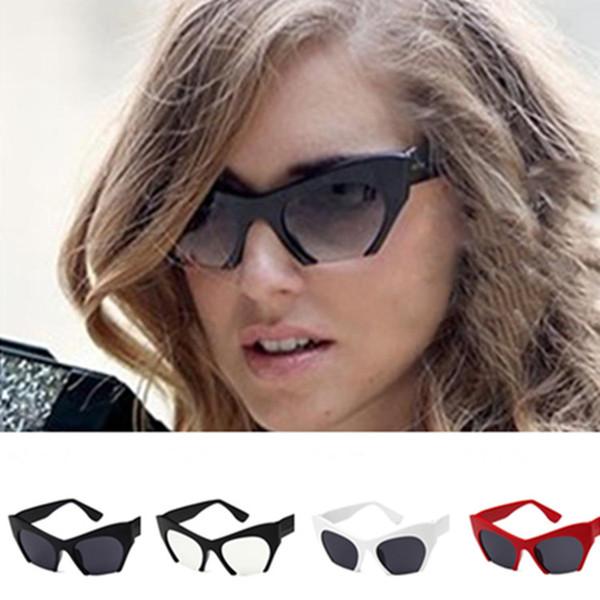Moda Kadın Erkek Kişilik Güneş Gözlüğü Yarı Çerçevesiz Güneş Gözlükleri Uv Gözlükler Kelebek Şekli Gözlük Gözlüğü Adumbral A + +