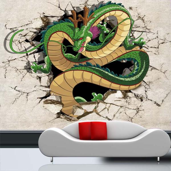 Пользовательские 3D обои Dragon Ball Wallpaper Японское аниме Наклейка на стену Большие фото обои Детская спальня Диван ТВ фоне стены покрытия
