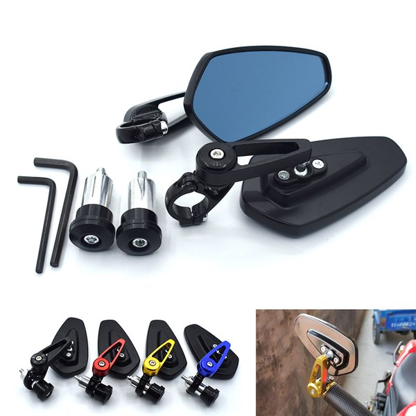 Für universal motorrad rückspiegel moto aluminium 7/8