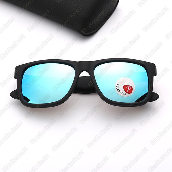 matte black-blue mirror polarized