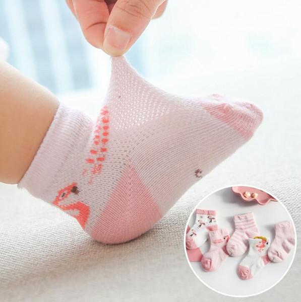2019 Cartoon Baby Socks Summer Children Sock Breathable Cotton Kid Socks For Boys Girls Thin Socks