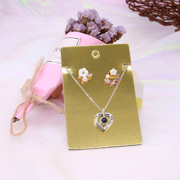Hot sale! 1000pcs/lot 6x9cm Golden Paper Card Hang Tag Price Card Jewelry Package and Display Handmade DIY Card