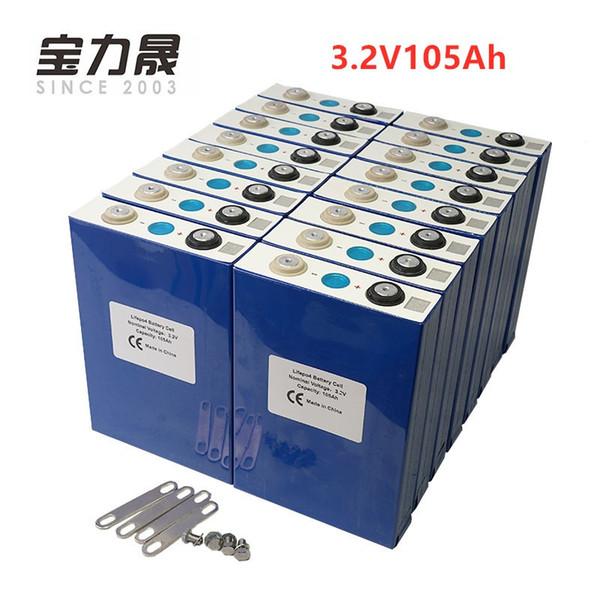 2019 NUOVA batteria lifepo4 16PCS 3.2V 100Ah CELLA 12V 24V36V 48V 105Ah per pacco batteria EV RV solare fai da te UPS o FedEx esenti da imposte UE