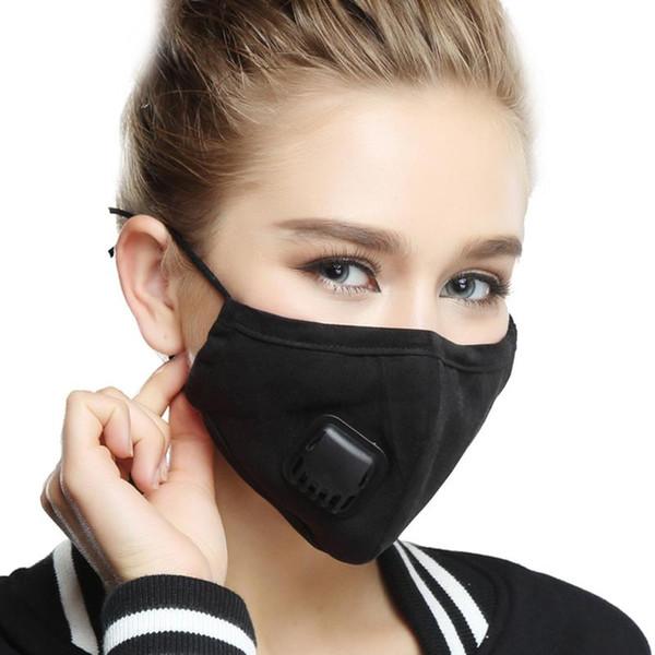 Heißer Verkauf Anti Fog Mask staubdicht Reiten verhindern kalte PM2.5 - Männer und Frauen Winter warm Aktivkohlefilter Atemventil