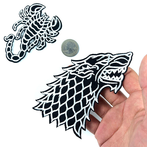 Game of Thrones Embroidery Patches House Stark of Winterfell Sewing Iron On Applique Badge Clothes Patch For Jackets Jeans Garment