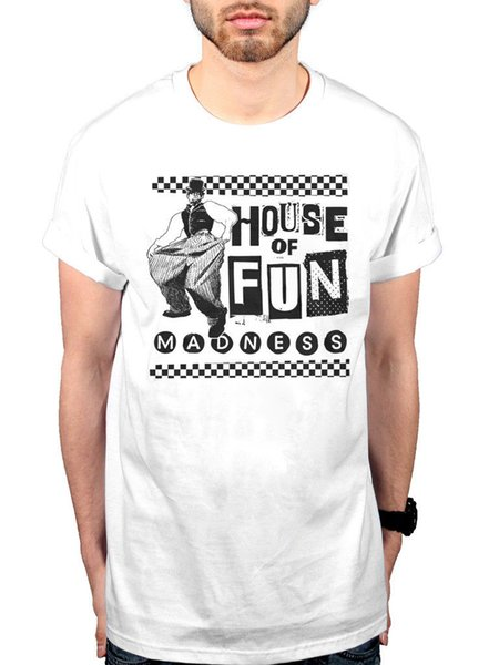 Official Madness Baggy House Of Fun T-Shirt The Rise And Fall Madstock! Keep Mov Short Sleeve Plus Size t-shirt