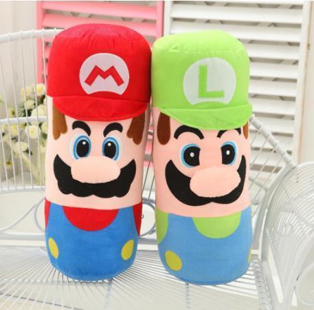 Hot Sale 2 Style 50CM MARIO & LUIGI pillow Super Mario Bros Plush Doll Stuffed Toys For Baby Good Giftskids toys
