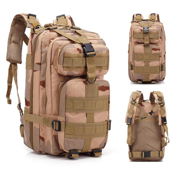 Outdoor Backpack Shoulders Bag 30L Sand Color Camouflage