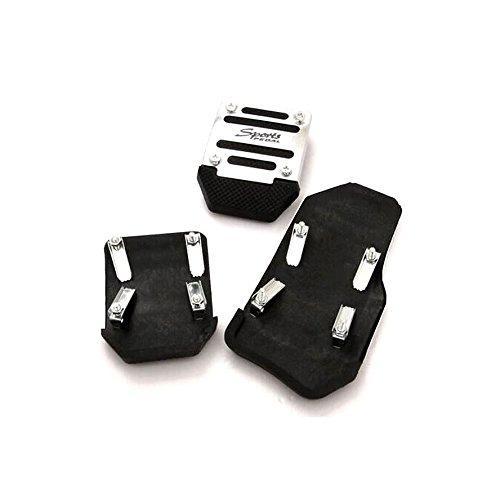 new Manual Aluminium 3 PCS Car Nonslip Brake Clutch Pedal Cover Set Foot Treadle by New