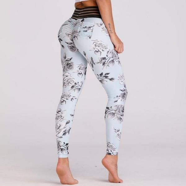 Neue Sexy Spitze Spleißen Taille Leggings Frauen Drucktasche Workout Kleidung Push Up Fitness Weibliche Elastische Dünne Hosen Leggins