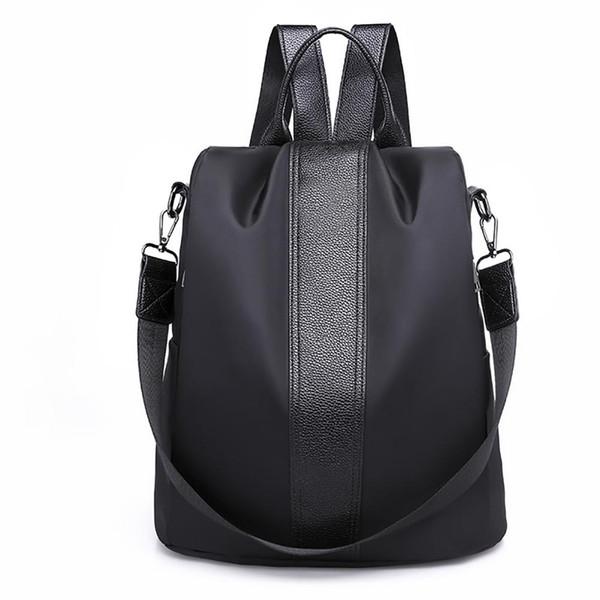 Popular Fashion Stripes Large Capacity Women Casual Travel Backpack Shoulder Bag Tote 2019