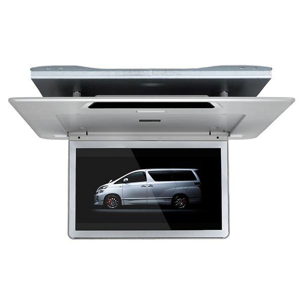 En kaliteli 13.3 inç ultra ince araç çatı üstü monitör 1920x1080 mp5 Çalar USB SD FM IR 1080 P video HDMI Toyota Alphard için aşağı çevirin