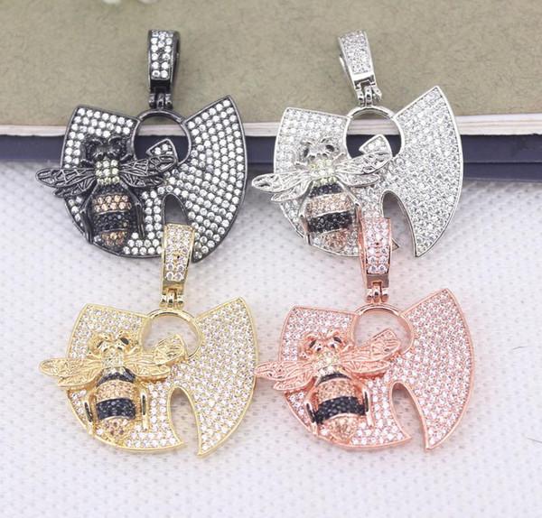 5 unids metal cobre micro palan cz insecto abeja colgante para la fabricación de joyas collar