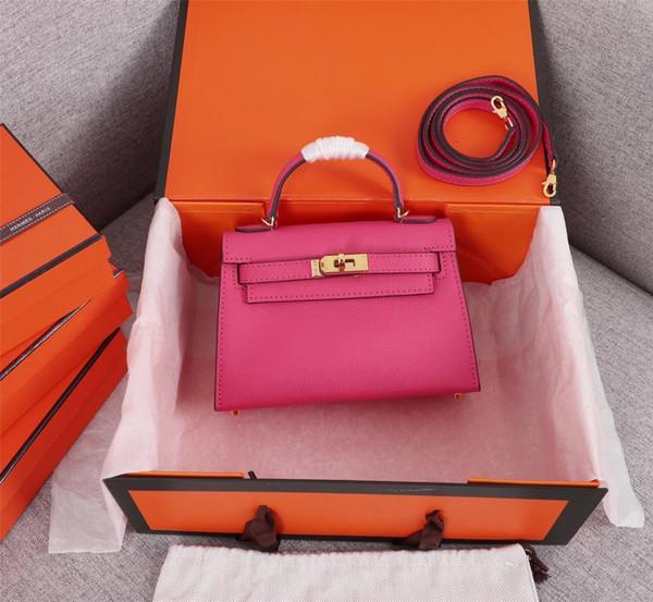 top popular Classic Designer Women Handbags Shoulder Bags Style Mini Strap Crossbody Tote Purse High Quality Genuine Leather Handbag freeshipping 19.5cm 2019