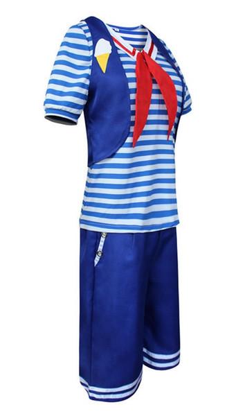 Cosplay custome. Strange Story 3 marine uniform cosplay Christmas Day Stranger Things ice cream shop uniform