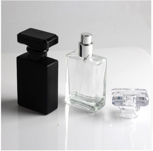 New Kind 30ml Clear and Black Refill Glass Spray Refillable Perfume Bottles Glass Automizer Empty Cosmetic Container For Travel