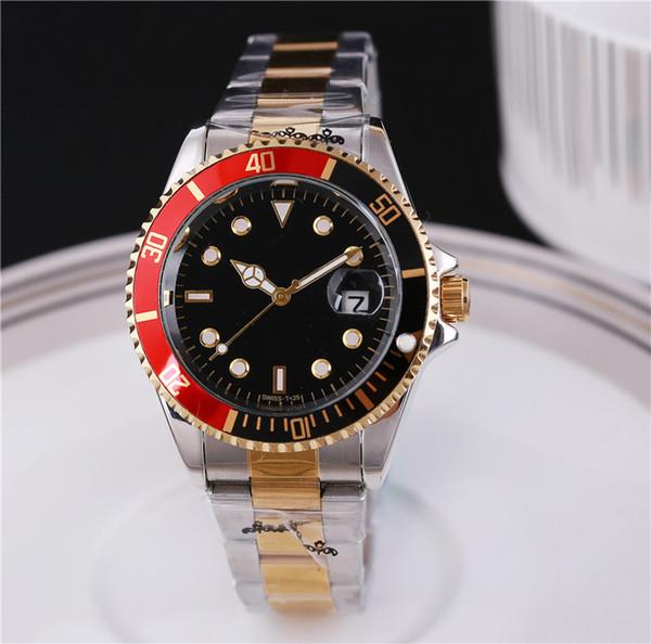 Reloj etiketi marka kol erkek tasarımcı saatler otomatik İzle erkekler gün tarih moda lüks bilezik tam altın ve gümüş saat