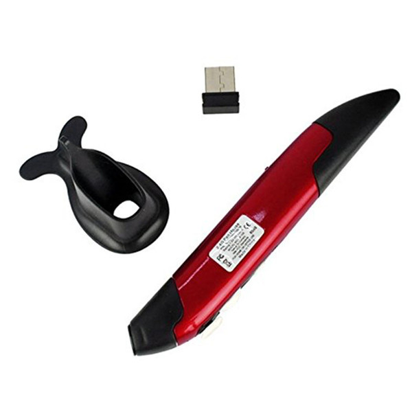 1pc New Mini 2.4GHz USB Wireless Mouse Optical Pen Air Mouse Adjustable DPI for Laptops Desktops Computer Peripherals