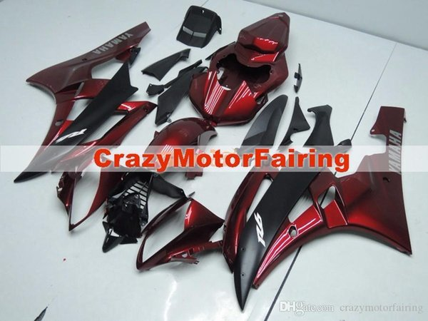 3 Free gifts New Injection ABS Fairing Kits 100% Fitment For YAMAHA YZF-R6 06-07 YZF600 2006 2007 R6 bodywork set dark red