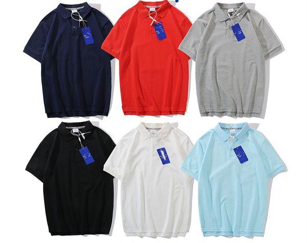 19SS summer new classic POLO shirt fashion short-sleeved men and women cotton lapel T-shirt casual sports couple shirt