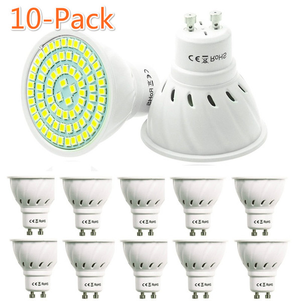 Nouveau Magasin Grand Promotion Des Ventes 10Pack GU10 220V Bombillas Lampada Spotlight LED Ampoule SMD 2835 Spot Light 230V 240V Économie D'énergie