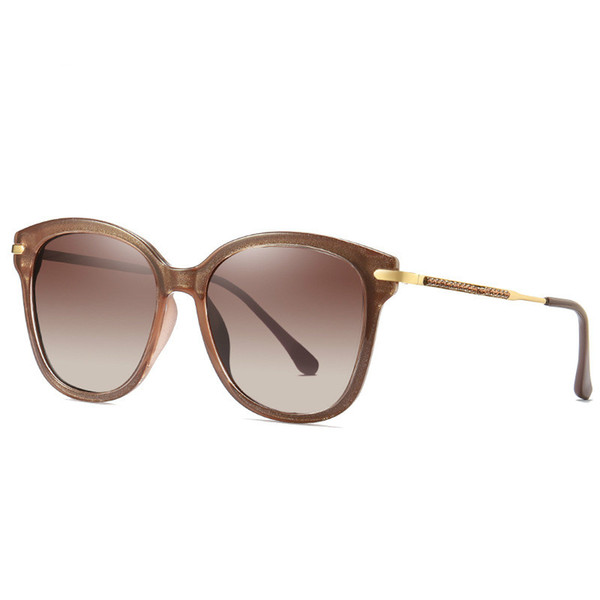 Brand Design Trend Colorful Sunglasses Women Polarized Driving glasses Alloy Cat Eyes Sun Glasses Oval Female colour