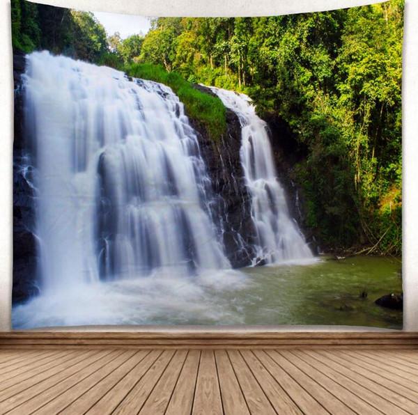 Cachoeira Modelo 3D Criativo Padrão Tapeçaria Ployester tapeçaria tapeçaria para decoração de parede tecido casa fundo pano Yoga Mats H366