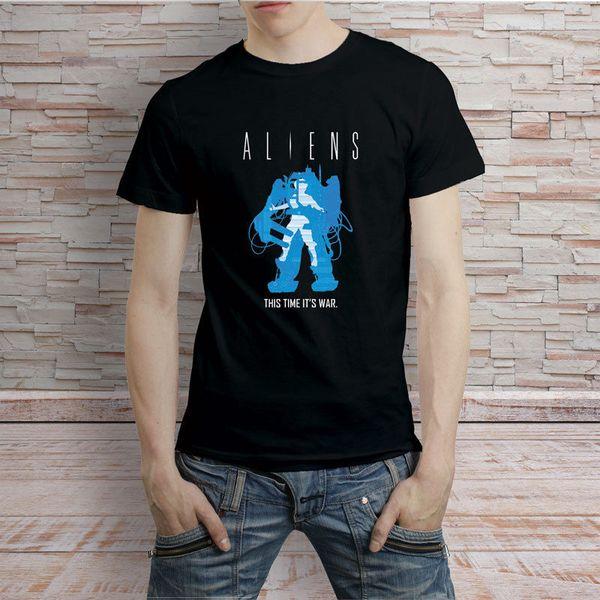 Чужеродный Классический Vintage Predator ретро Классический T-Shirt Tee O-образный вырез вскользь высокого качество печати тенниска