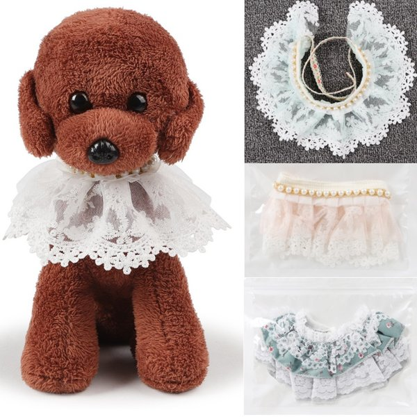 2 Styles Luxury Wholesale Pet Products Dog Supplies Pet Charm Dog Lace Necklace Rhinestone Puppy Collar Cat Accessory