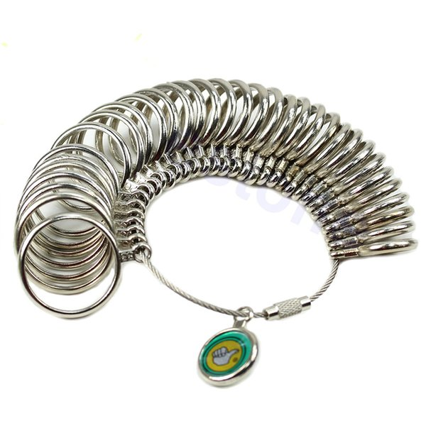 Useful Standard Jewelry Tool Silver Ring Size 33 Different Sizes Metal Ring Measuring Tool Finger Sizer Measure Gauge