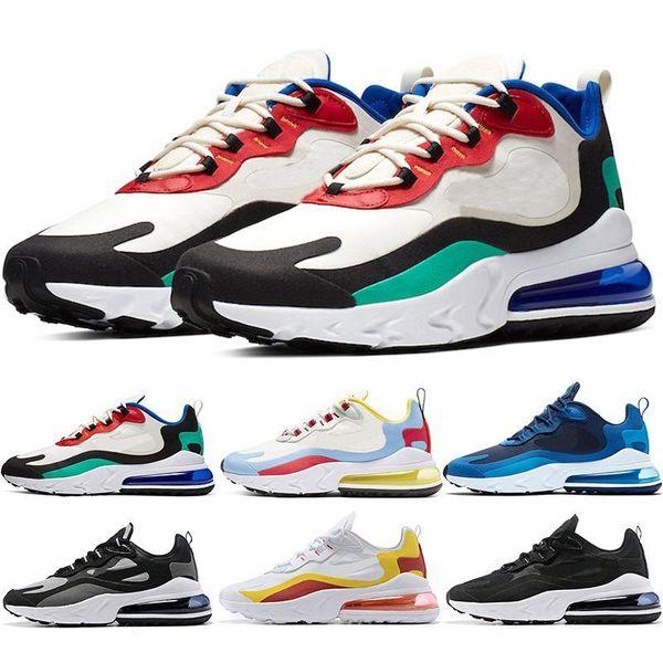 React Men Running Shoes Bauhaus Optical Anthracite Phantom Triple Black HYPER JADE Women Mens Trainers Athletic Sports Sneakers Size 36 45 Sports