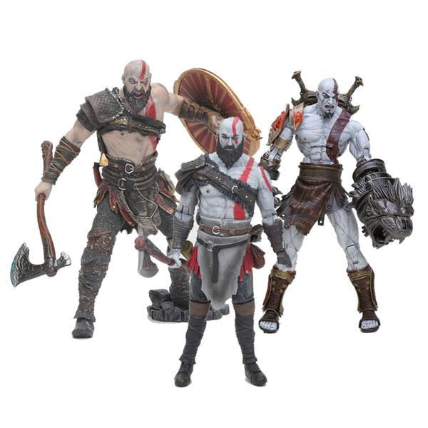 NECA Kratos toy GOD OF WAR 4 3 Game Heros Kratos Ghost of Sparta action figures 18cm PVC doll