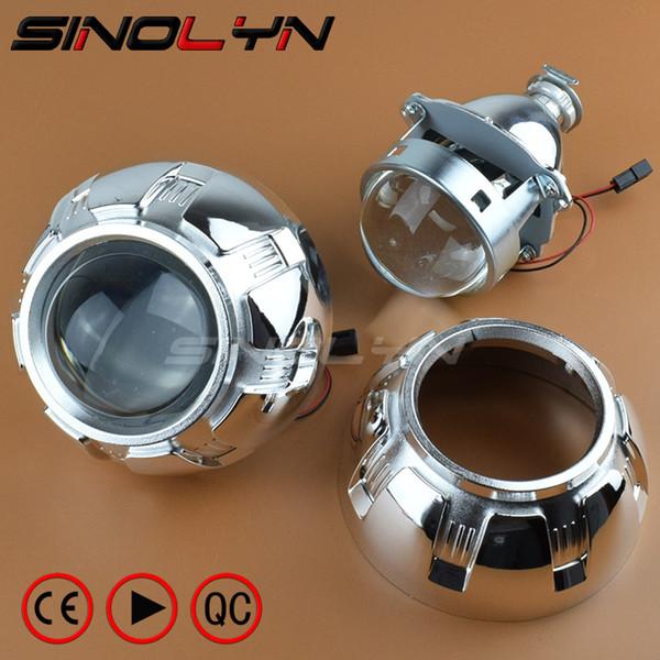Carro Restyling Metal 3.0 polegada Bi-xenon Lente Do Projetor Farol Xenon Lentes Do Farol de Iluminação H4 H7, Use Lâmpadas de Xenônio H1
