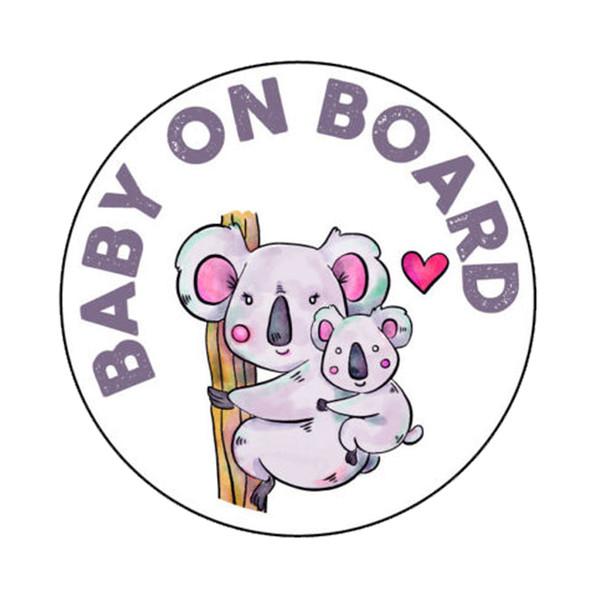 Araba Bebek Sticker Tembellik Hayvan Araba Aksesuarları Vinil Aplike Kişiselleştirilmiş Aksesuarları Dekorasyon
