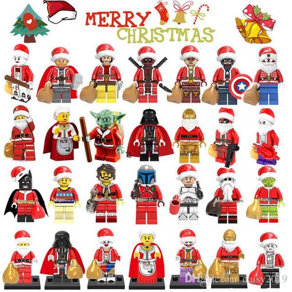 Regali di Natale Festival Super eroi Iron Man Spiderman Thor Claus Wolverine bambini giocattoli