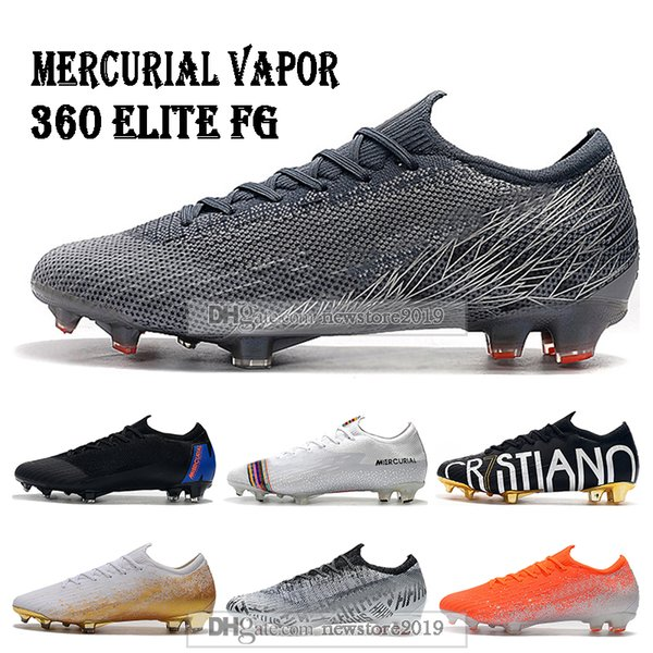 Mens Low Ankle Football Boots Victory CR7 Mercurial Vapors XII VII Elite FG Soccer Shoes Superfly VI 360 Neymar ACC Soccer Cleats