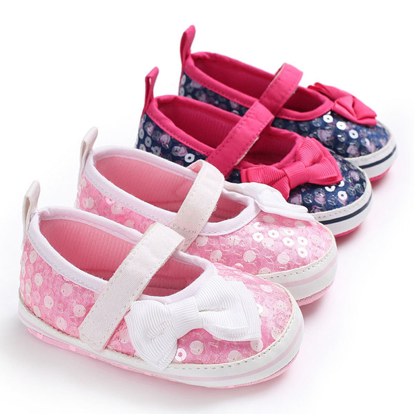 Newest Autumn Girls leather shoes Children girls baby princess bowknot sneakers pearl diamond single shoes Kids dance