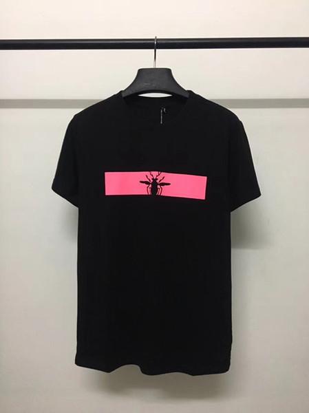 2019 marca de moda de lujo diseñador casual camiseta de los hombres El escarabajo de impresión de moda de calidad superior camisetas hombres de manga corta camiseta