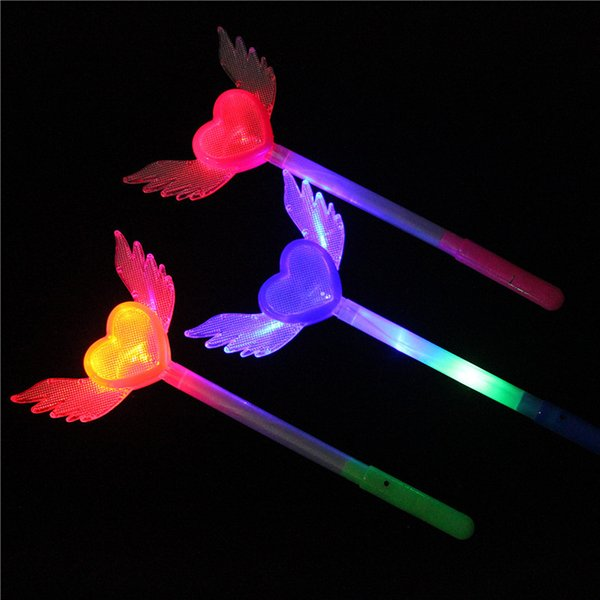 Led Girl Light Stick Toys Heart Wing Flash Sticks Glow With Crystal Ball Popular Hot Selling 2 4hp J1