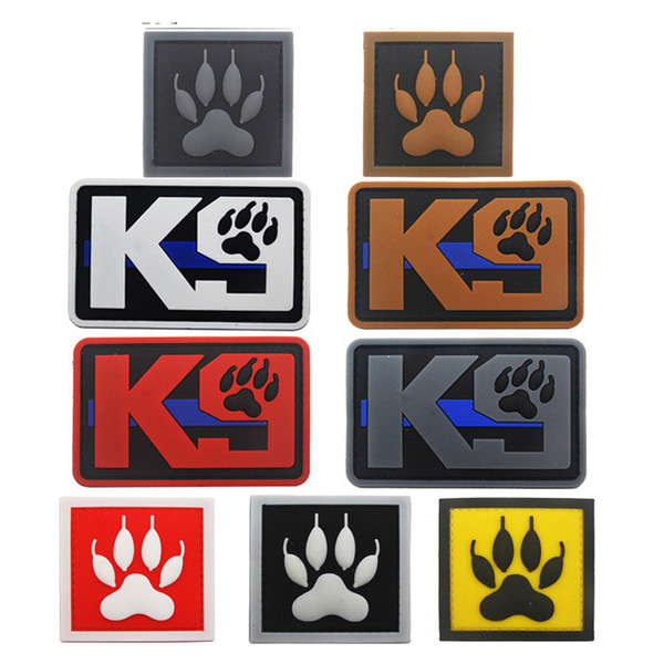 K9 Linha Azul Serviço Do Cão Função Tática Patches Emblemas para Roupas Roupas Chapéu Dropshipping