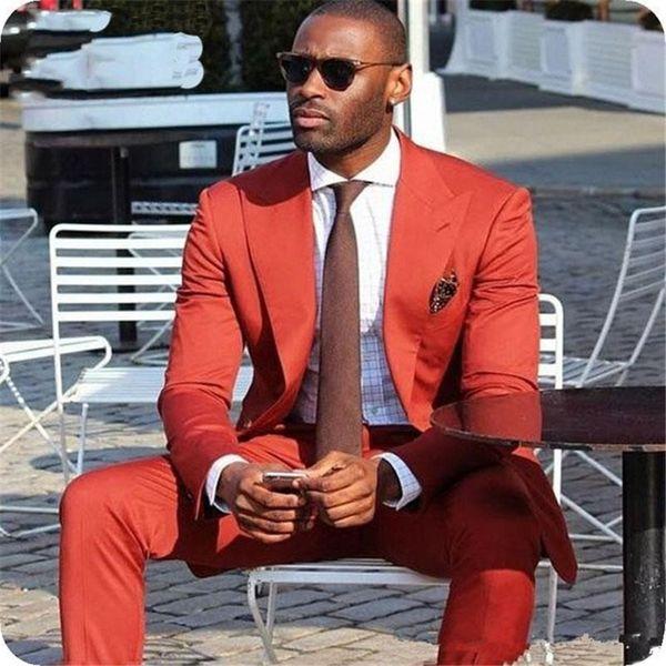Custom Men's Wedding Suit Business Male Trailblazers Loose Lapel Groom Tuxedo 2 Piece Coat Pants Latest Design Clothing Men